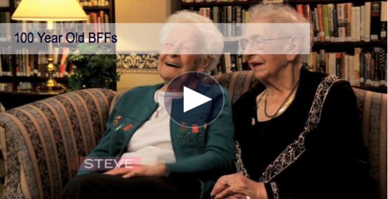 Twee 100 jaar oude vriendinnen praten over selfies, twerken en Justin Bieber.