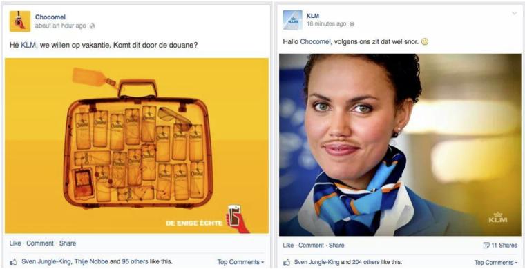 Briljant: Chocomel en KLM
