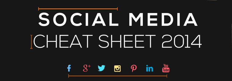 Social media design & afmetingen cheat sheet 2014