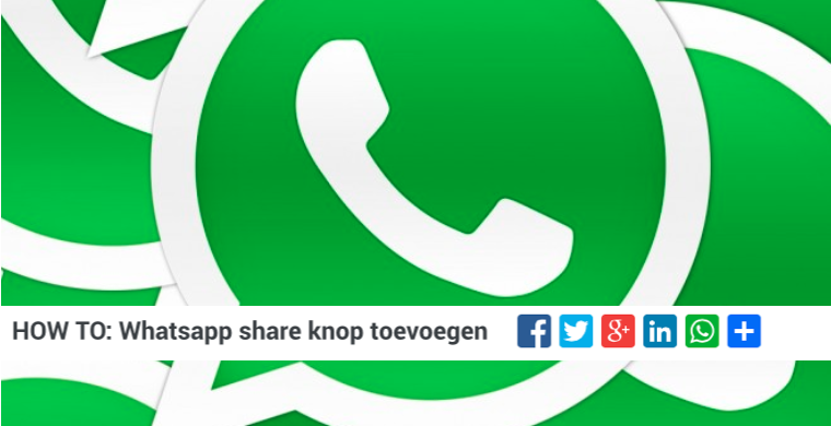 Zo voeg je een Whatsapp share knop toe aan je website